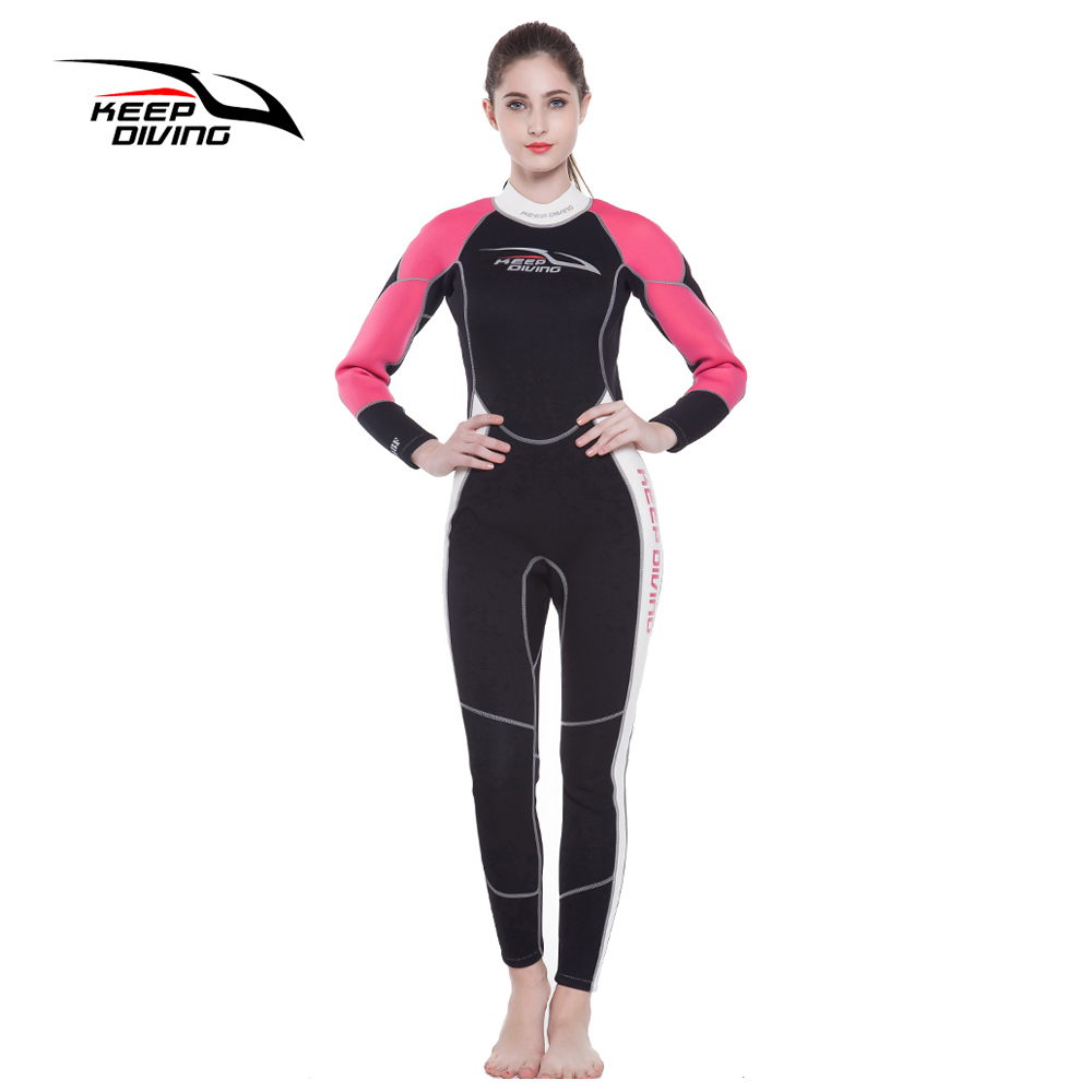 KEEP DIVING Womens 3MM Neoprene One-Piece Scuba Dive Wet Suit Wetsuits for Winter Swim Surfing Snorkeling Spearfishing Equipment - 2