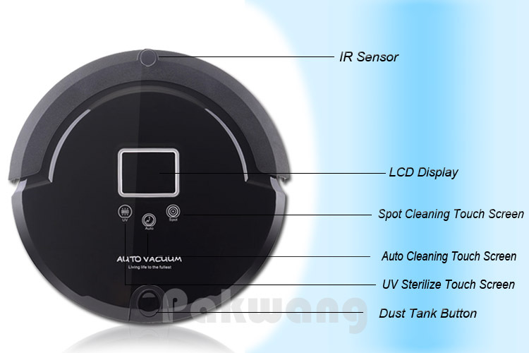 Intelligent Robot Vacuum Cleaner A320 for Home and Office, Automatic Vacuum Cleaner Vacuum Sweep Mop Sterilize 4 in 1 Vacuum