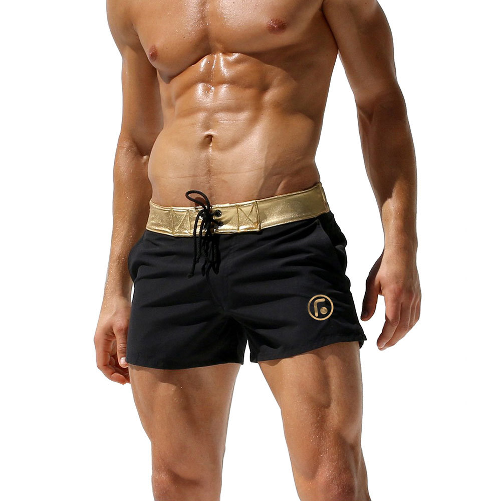 Men's Quadruple Pants Cool Fashion Light Sports Shorts Beach Short Pants Gold Silver Side Board Shorts Mens Shorts And Boxers