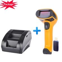 Thermodrucker 58mm Drahtlose barcode-scanner pos system supermarkt NT-5890K + NT-2028