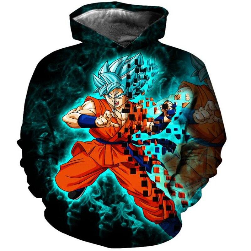 Hoodies Men Dragon Ball Anime Women Sweatshirt Fashion Long Sleeve thin Hoodie Hot sale 3D  Sweatshirts