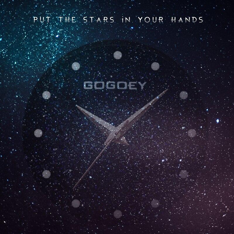 relojes mujer 18 Luxury Brand Gogoey Women Watches Personality romantic starry sky Wrist Watch Rhinestone Design Ladies Clock 16