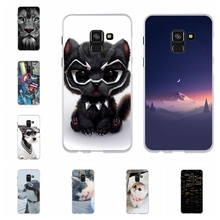 For Samsung Galaxy A8 2018 Case Soft TPU Silicone A530F Cover Cat Patterned Capa