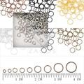 30 г приблизительно 550 шт. 5 мм гладить круглый Открытые Перейти Кольца Gauge 21 кольца брелоки изготовления DIY браслет ювелирные изделия оптом JR0216 - фото