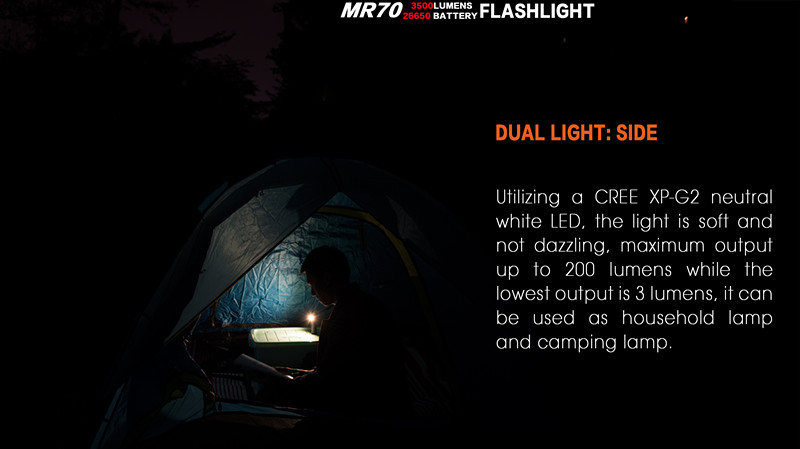 JIGUOOR MR70 Rechargeable Flashlight XHP70.2 CW / XP-G2 NW LED max. 3500lm beam throw 248m outdoor torch + 26650 5500mAh battery jiguoor portable pen flashlight lumintop iyp365 black xp g2 r5 led max 200 lumen mini torch for self defense every day carry