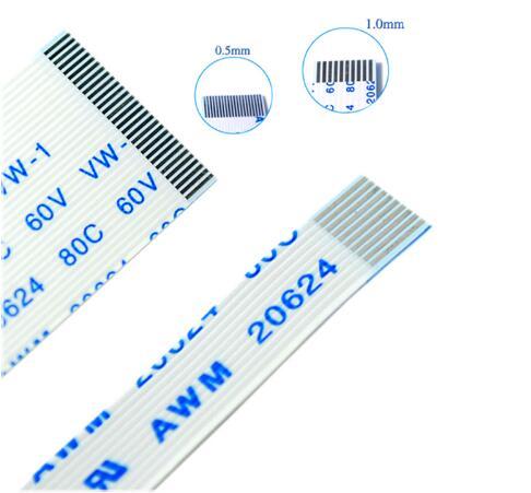 10Pcs FPC Flexible Flat Cable FFC 0.5MM 30MM A B Type 4P 5P 6P 8P 10P 12P 14P 16P 18P 20P 22P 24P 26P 28P 30P 32P 3cm Connector