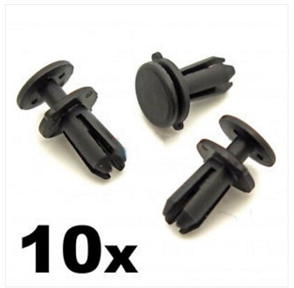 10 x PLASTIC CLIPS FASTENERS to fit some NISSAN FRONT GRILLS /& RADIATOR GRILLES