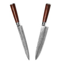 2pcs Kitchen Knives VG10 Damascus Steel 8 Inch Chef Slicing Damascus Knives XYJ Brand Cooking Tools