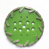 GD46 Diamond Abrasive Grinding Disc 10 Inch Grinding Plate Polishing Pads with 20 Segments for Concrete Terrazzo Floor 3PCS