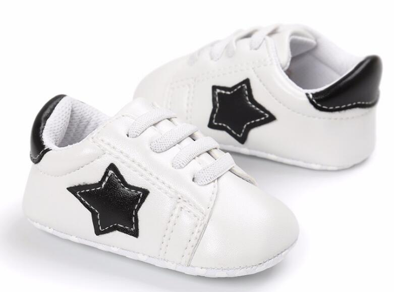 2018 spring new arrival stars prints pu leather baby maccasins shoes baby boys girls shoes first walkers 3 colors