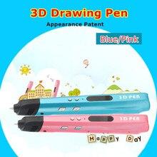 Шестое поколение 2 Цвет 3 D рисунок ручки с Бесплатная PLA нити 3D печати ручки для детей подарок на день рождения добавить 100 м pla