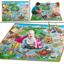 Детский коврик для игры в ползание, для пикника, пляжные игрушки, 120 см X 90 см, развивающие игрушки, дропшиппинг, подарки F1