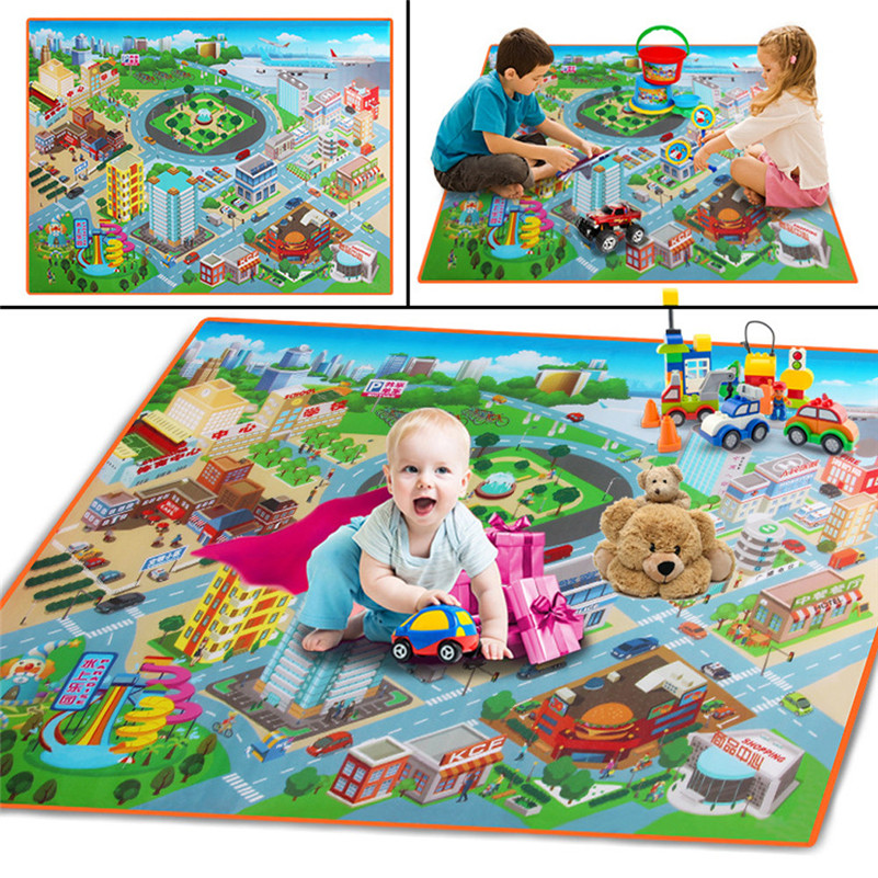 Baby Kids Toddler Crawl Play Game Picnic Carpet Beach  Toys 120cmX90cm Educational Toys DropShipping Gifts F1