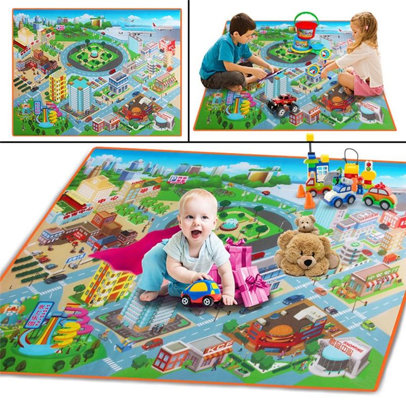 Baby Kids Toddler Crawl Play Game Picnic Carpet Beach  Toys 120cmX90cm Educational Toys DropShipping Gifts F1