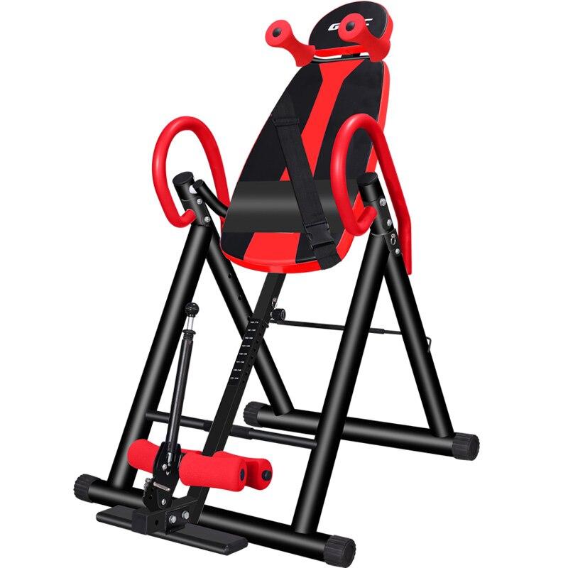 L52 espalda estiramiento máquina resistente tabla de inversión con respaldo de espuma y Lumbar Pad gimnasio terapia para el alivio del dolor de espalda