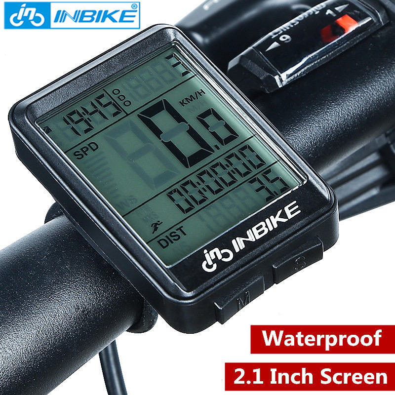 Stopwatch, INBIKE, Bicycle, Wireless, Speedometer, Computer