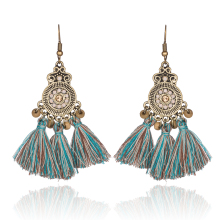 Rhinestone long earrings with crystals Boho style drop tassels wedding earring for women Dangle green lot wholesale jewelry