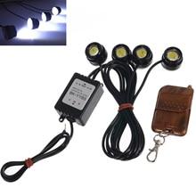 цена на Car DRL LED Strobe Flash Eagle Eye Light Wireless Remote Daytime Running Light Reverse Backup Parking Lamp Waterproof HEHEMM