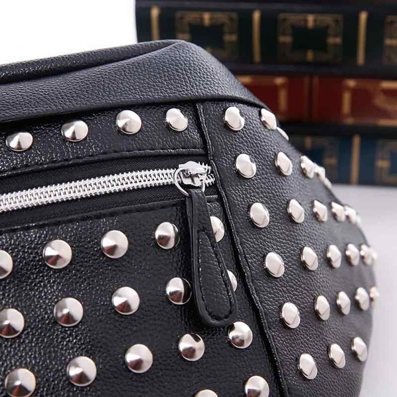 1507efe796c6 ... Поясные сумки Для женщин заклепки поясная сумка Пояс Сумка женская мини  кармашек сумки PU кожа сумки ...