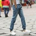 Бегунов Брюки Мужчины 2016 Новых Прибытия Джинсовые Брюки Для Человека мода Slim Fit Plus Размер 5XL-M мужские Длинные Брюки Hot!