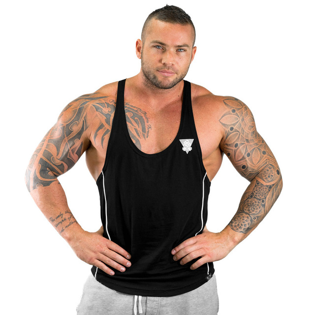Male Casual Workout Fitness Bodybuilding Singlet Vest Tank Top