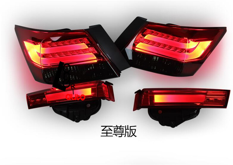 car -styling LED Tail Lights For Accord Sedan 4-Door 2008-2013 led tail lamp car styling tail lights for toyota highlander 2015 led tail lamp rear trunk lamp cover drl signal brake reverse