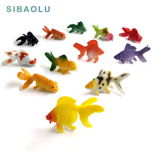 Kawaii Simulation animals model fish miniature garden Figuri
