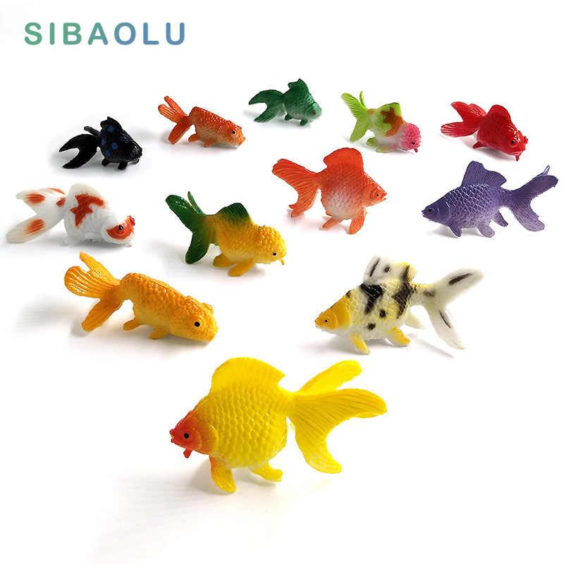 Kawaii animali di Simulazione modello di pesce da giardino in miniatura Figurine della decorazione della casa di accessori Arredamento fata Pesci Rossi mestiere Bonsai giocattolo