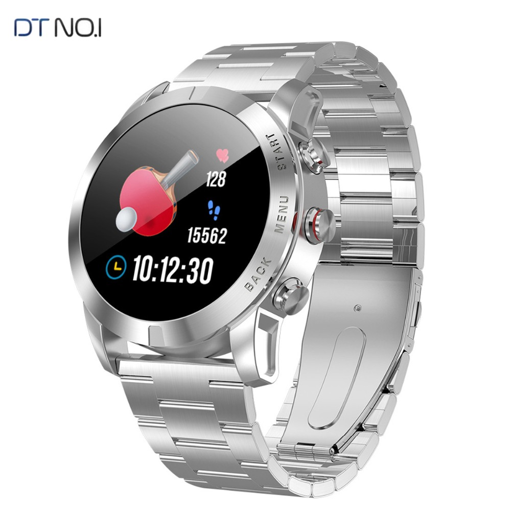 <font><b>DT</b></font> <font><b>NO.I</b></font> <font><b>S10</b></font> <font><b>Smart</b></font> <font><b>Watch</b></font> 1.3'' IP68 Waterproof Bluetooth 4.2 Smartwatch Heart Rate Monitoring Compass Sport <font><b>Watch</b></font> for Android iOS image