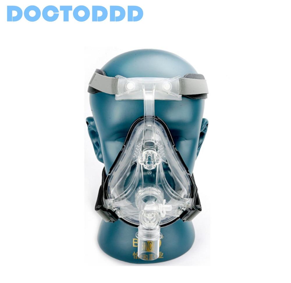 Doctodd FM1 Plein Visage Masque CPAP Auto CPAP BiPAP Masque Avec Livraison Coiffures Blanc S M L pour L'apnée Du Sommeil SAHOS SAOS Ronflement Personnes