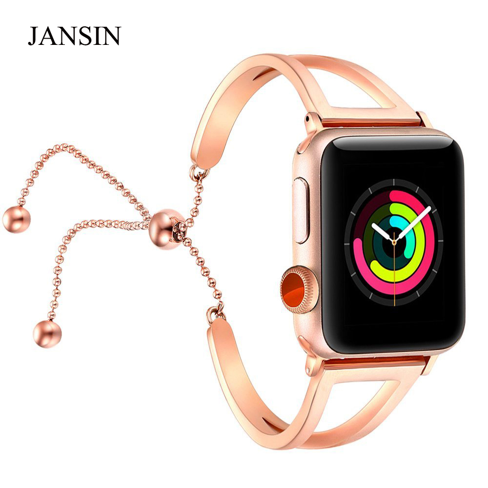 Women watch band For Apple Watch bands 38mm 42mm 40mm 44mm,Stainless Steel bracelet for Apple Watch strap iWatch Series 4 3 2 1
