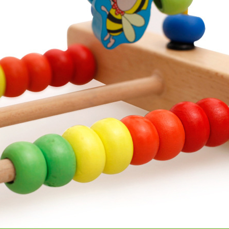 Kids Wooden Math Toy Counting Circles Bead Abacus Wire Maze Roller Coaster Montessori Educational for Children in Math Toys from Toys Hobbies