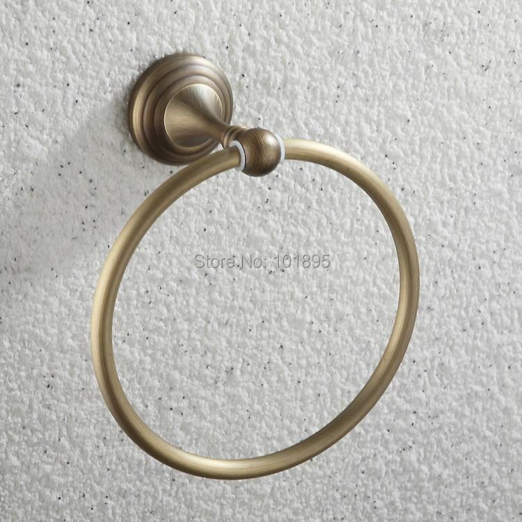 f2376e3b9bcb Lujo bronce acabado latón baño material Accesorios anillo de toalla titular  de papel higiénico Tazas Cepillos gancho