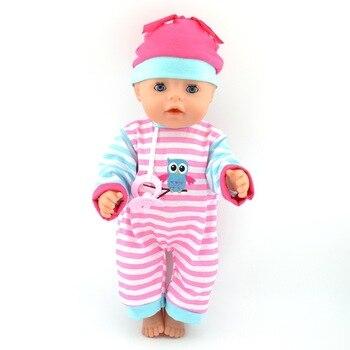 7179842c9 1 set   banda de pelo + abrigo + Pantalones + pezón muñeca ropa ajuste 43  cm Bebé Ropa de la muñeca y accesorios los niños mejor regalo de cumpleaños