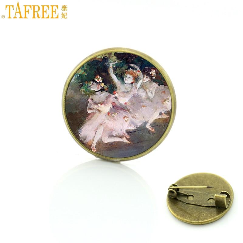 Tafree antigo degas dançarinos bailarina broches crachá dança vintage feminino broche pinos jóias moda dança classe presentes ct123