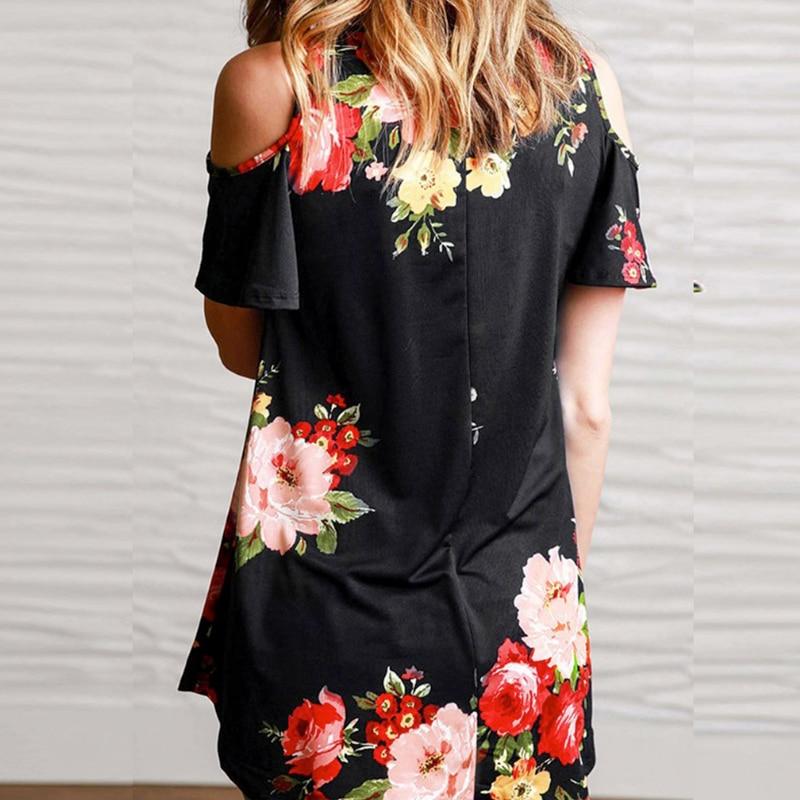 2019 Summer T Shirt Plus Size Women T-shirt Harajuku Vintage Fashion Casual Short Sleeve Floral Print V-Neck Long T-Shirt