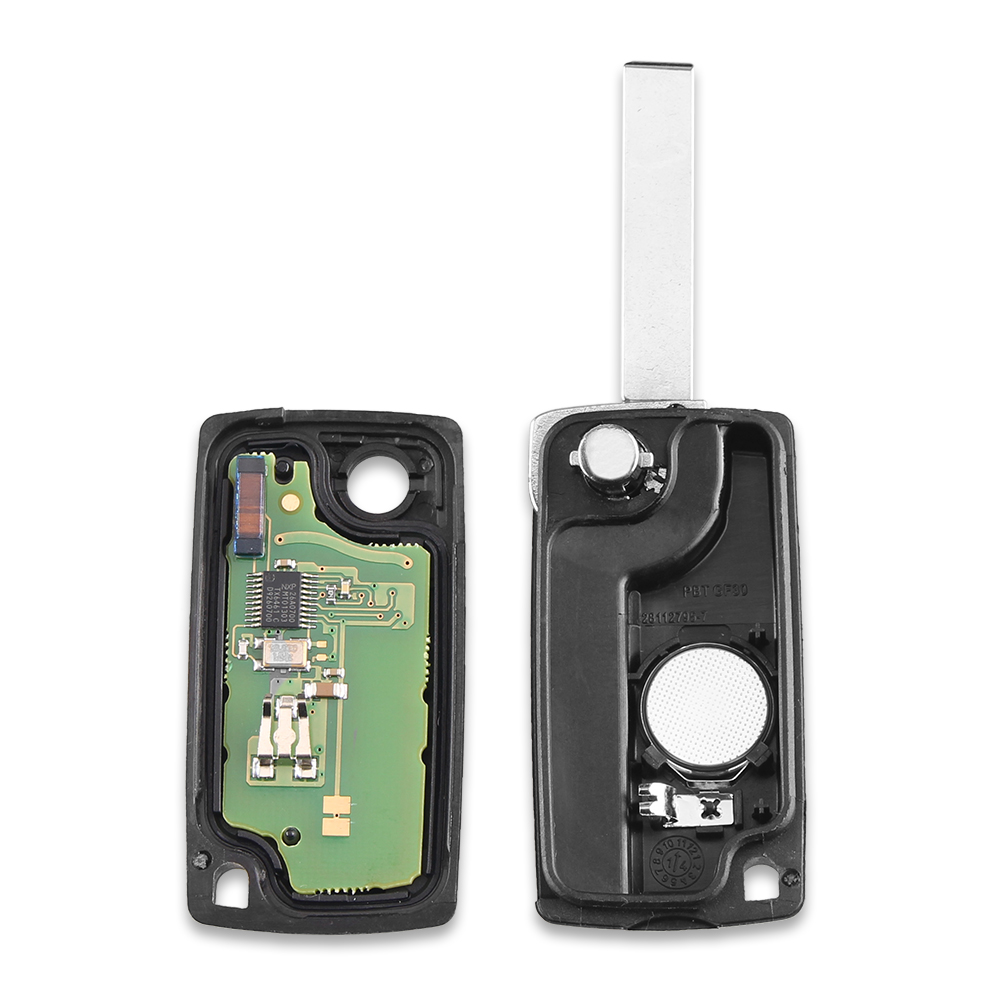 Image 3 - KEYYOU 3 Buttons Car Keyless Entry Case Flip Folding Remote Key 433MHz with ID46 Chip HU83 Blade for Peugeot 207 307 308 407 607-in Car Key from Automobiles & Motorcycles