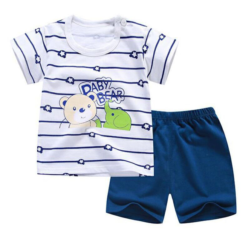 17146f17a8fa Little Toddler Boys Summer Clothing Short Sleeve tshirt T shirt Pants Tops  Clothes Sets Baby Boys