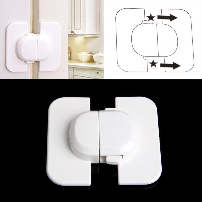 New 1Pc Baby Refrigerator Safety Plastic Locked Cupboard Door Lock Cabinet For Kids
