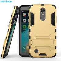 KEYSION Case For LG K8 2017 MS210 Luxury Silicon Plastic Back Armor Cover Mobile Phone Bags