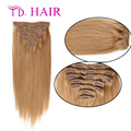 #18 clip in human hair extensions 7A kinky straight clip in hair extensions new arrival 7pcs 8pcs lot clip hair extension