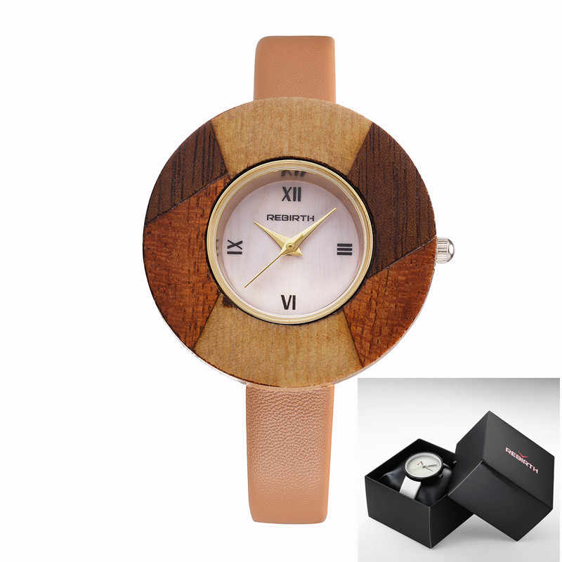 Nowy Trend 2019 odrodzenie panie skórzane dorywczo mody zegarek kwarcowy kobiet sukienka wodoodporny zegarek damski Reloje Mujer Montre