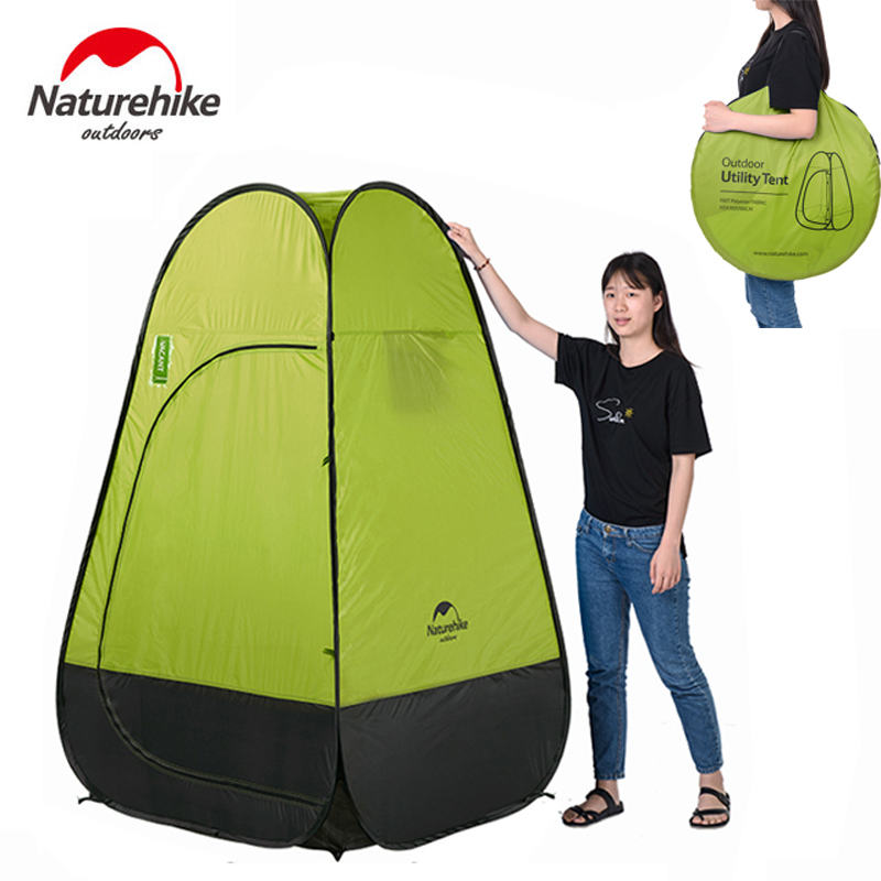 Naturehike NEW Quick Built Automatic Opening Tent Fishing Restroom Portable Tent For Outdoor Shower Washing Toilet Dressing naturehike camping tent quick automatic opening washing toilet tent fishing restroom portable outdoor tent mobile bathroom