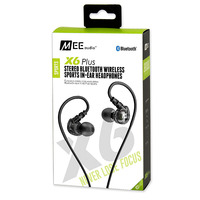 Mee Audio MEElectronics X6 Plus Wireless Bluetooth Headset Stereo Running Sports In Ear Sweat Resistant Earphones