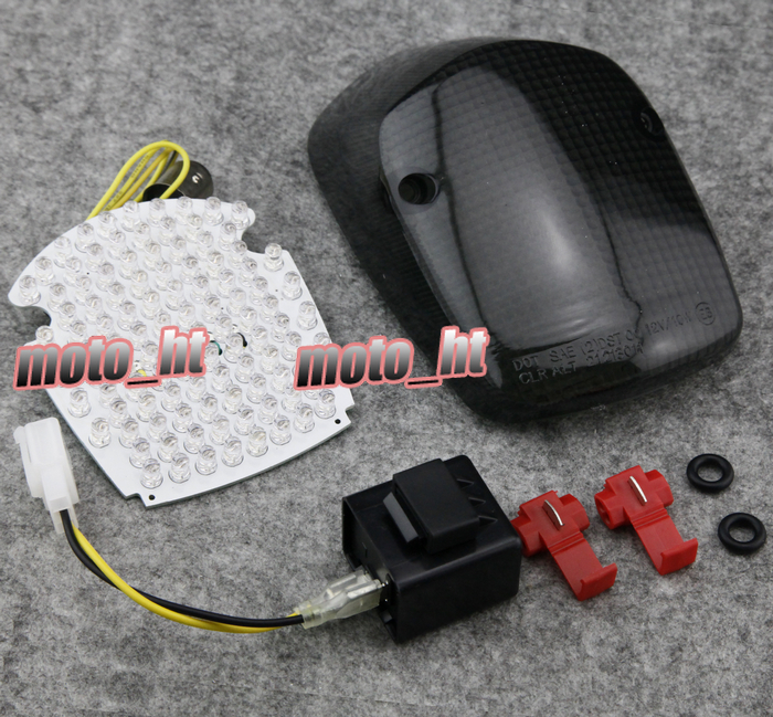Smoke Motorcycle LED Taillight integrated Turn Signals For Honda Shadow ACE 750 / Aero 1 ...
