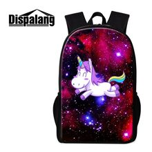 b6cf62d4fb4c Dispalang Unicorn School Backpack Patterns Galaxy Designer Bookbag Boys Day Pack  Girls Shoulder Back Pack Cute Satchel Children