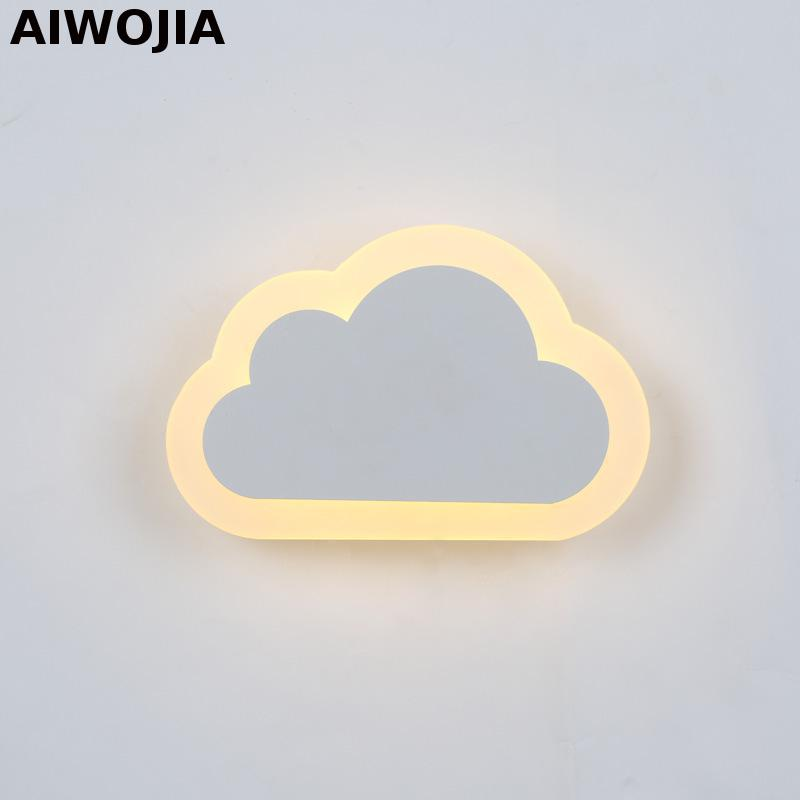 Modern LED Wall Lamp 13W Wall Sconce White Indoor Lighting Lamp with clouds shape Led Wall Light Home Lighting Lamps free shipping led crystal wall lamps wall sconce modern led crystal lamp light with 2l home indoor outdoor lighting decoration