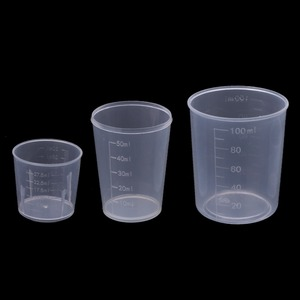 3Pcs DIY Epoxy Resin Plastic Measuring Cups Set 30ml 50ml 100ml For Handmade DIY Jewelry Making Tool Epoxy Resin Cup