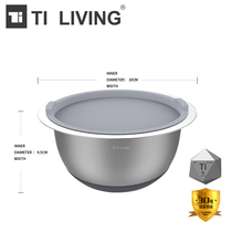 Hot Sale Tikungfu Titanium Small Size Salad Bowl Kitchen Accessories Dish Pot Veggie Vegetable Fruit BPA Free Shipping Healthy