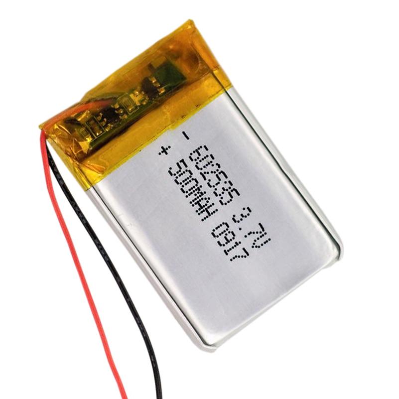 3.7V Polymer Li ion battery For Mp4 <font><b>Bluetooth</b></font> <font><b>Headset</b></font> pen <font><b>Glasses</b></font> 602535 500mAh
